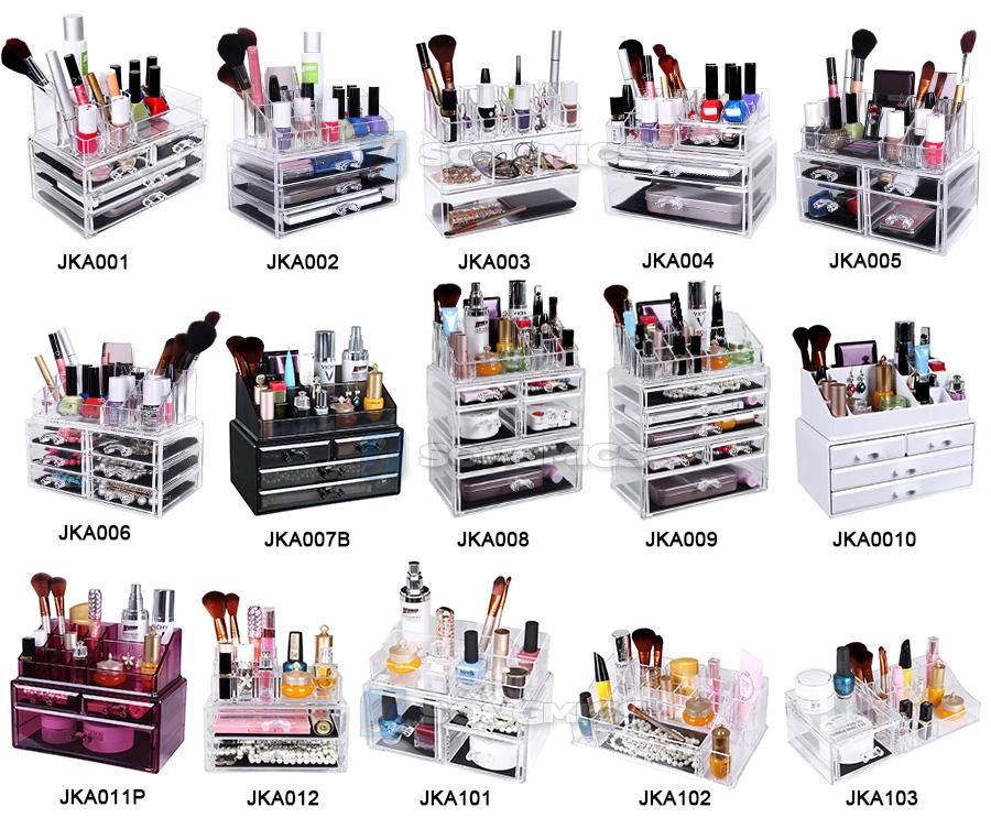 Rangement maquillage acrylique for makeup nail art ongle - Boite acrylique transparente ...