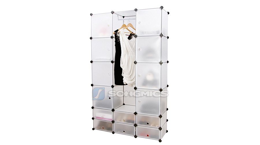 diy steckschrank kleiderschrank garderobe steckregal schuhregal kommode lpc32w ebay. Black Bedroom Furniture Sets. Home Design Ideas
