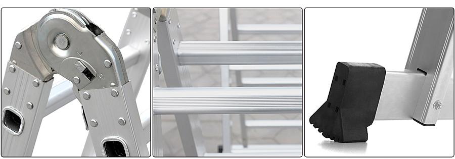 songmics leiter haushaltsleiter stufenleiter stehleiter mehrzweck klappleiter ebay. Black Bedroom Furniture Sets. Home Design Ideas