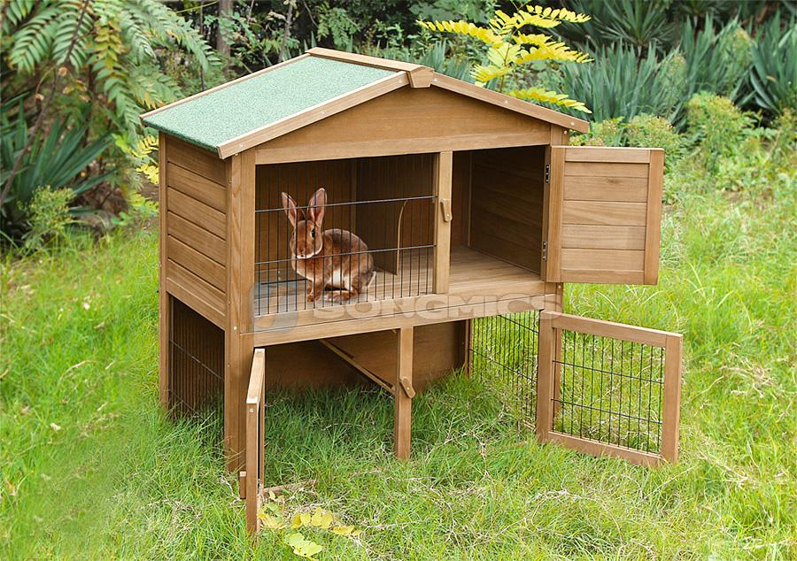 hasenstall kaninchenstall doppelstock kaninchenk fig 100 x 55 x 100 cm prh020 ebay. Black Bedroom Furniture Sets. Home Design Ideas