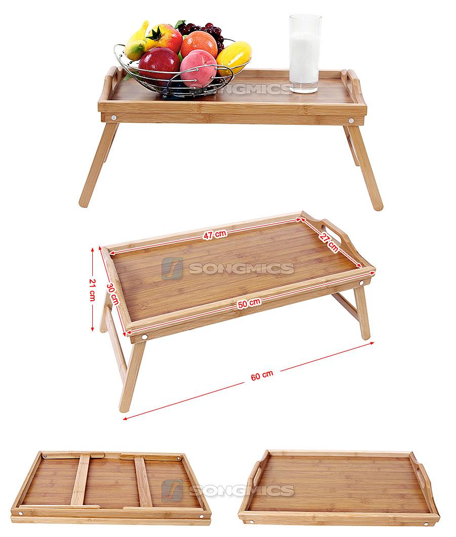 songmics vassoio da letto in bamb colazione a letto tavolino tavolo lld530 ebay. Black Bedroom Furniture Sets. Home Design Ideas