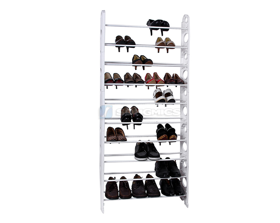 10 ebene schuhregal schuhst nder h 159cm 40 paar schuhe freie kombination lsr101 ebay. Black Bedroom Furniture Sets. Home Design Ideas