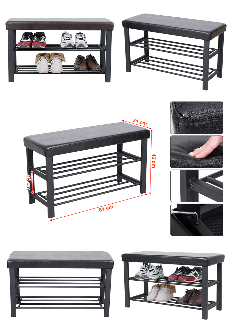 songmics schuhregal mit sitzkissen regal sitzbank schuhablage schuhschrank wuppertal. Black Bedroom Furniture Sets. Home Design Ideas