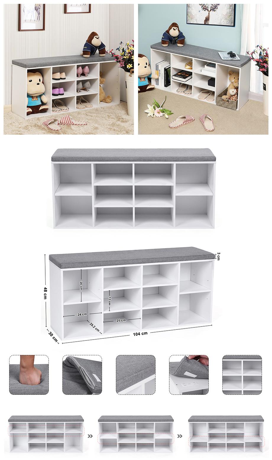 schuhschrank sitzb nke schuhbank schuhregal bank mit. Black Bedroom Furniture Sets. Home Design Ideas