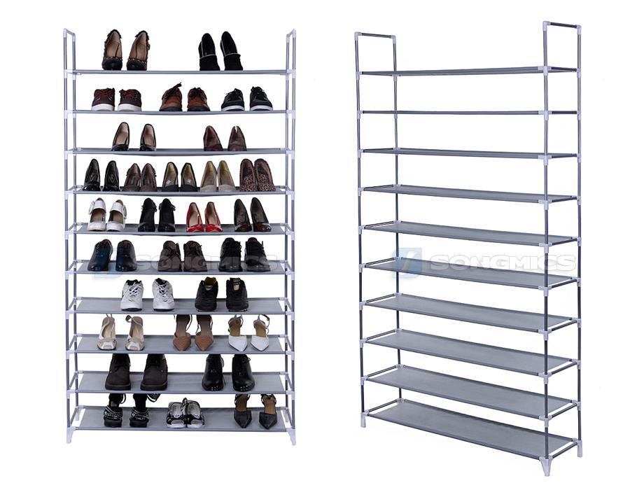 10 schicht schuhschrank schuhablage schuhregal f r 50 paar. Black Bedroom Furniture Sets. Home Design Ideas