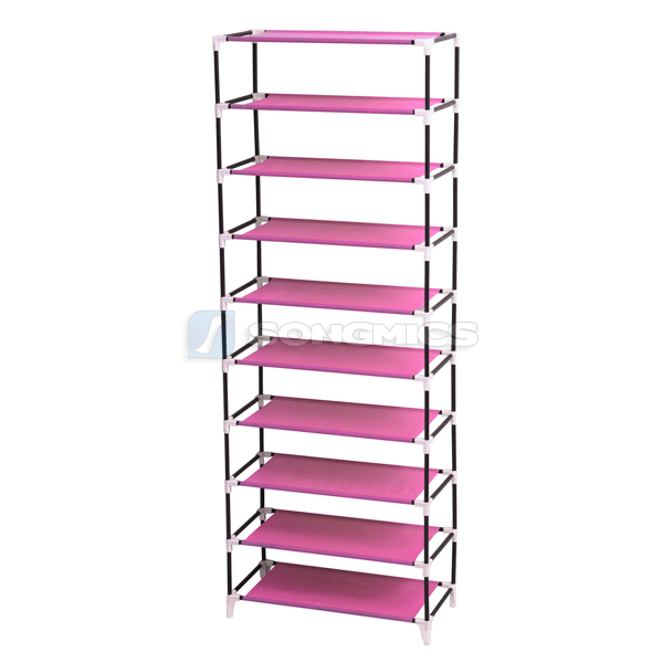 songmics shoe rack shoes cabinet stand standing storage. Black Bedroom Furniture Sets. Home Design Ideas