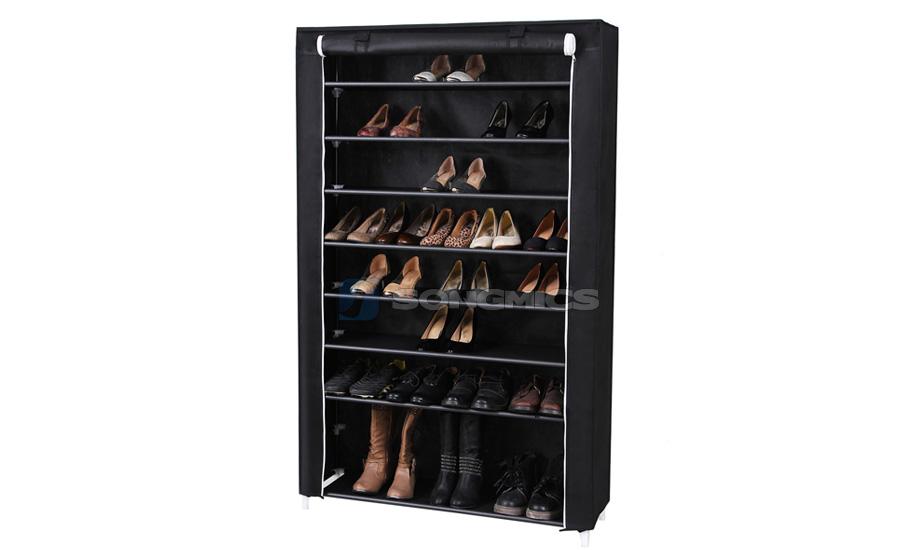 songmics schuhregal schuhschrank 54 paar schuhe stahlrohr. Black Bedroom Furniture Sets. Home Design Ideas