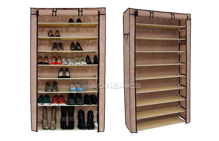 Details zu schuhregal f r ca 40 paar schuhe schuhschrank - Schuhschrank fa r 40 paar schuhe ...