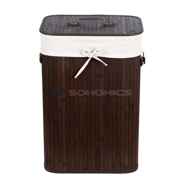 songmics faltbar bambus w schek rbe w schekorb w schebox mit den griffen lcb103 ebay. Black Bedroom Furniture Sets. Home Design Ideas