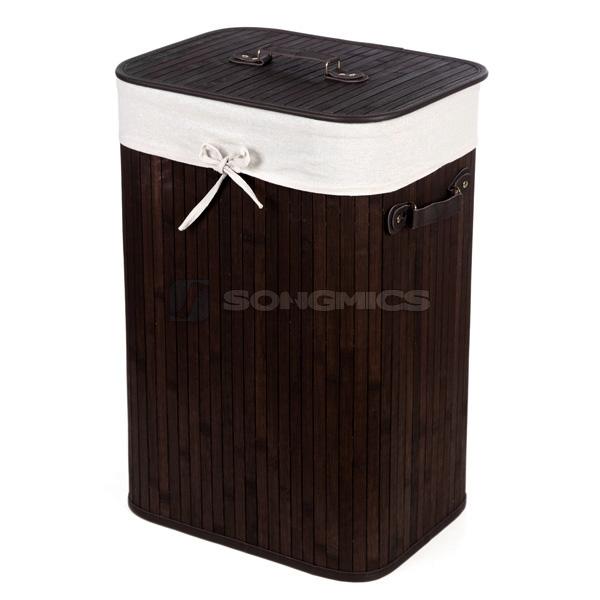 songmics bambus w schekorb w schebox w schetruhe w schesammler eckig rund. Black Bedroom Furniture Sets. Home Design Ideas