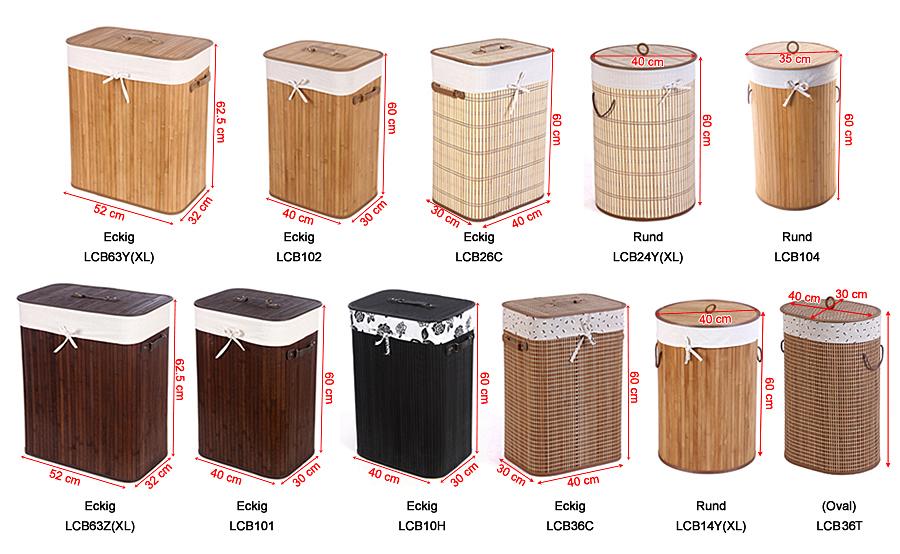 songmics bambus w schek rbe w schekorb w schebox w schetruhe w schesammler. Black Bedroom Furniture Sets. Home Design Ideas