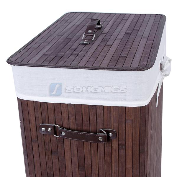 songmics 100l gro bambus w schek rbe w schekorb w schebox w schetruhe lcb63z ebay. Black Bedroom Furniture Sets. Home Design Ideas