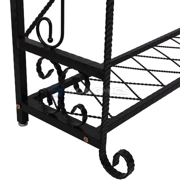portant en fer porte v tement porte manteau penderie garde robe noir hra004b ebay. Black Bedroom Furniture Sets. Home Design Ideas
