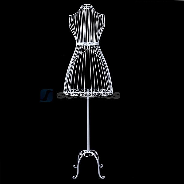 porte v tement manteau mannequin de couture buste en fer forg femme hra007w ebay. Black Bedroom Furniture Sets. Home Design Ideas
