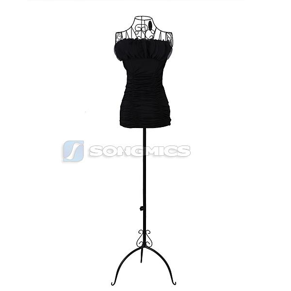 170 cm mannequin d co vitrine femme buste couture en fer v tement noir hra10b ebay. Black Bedroom Furniture Sets. Home Design Ideas
