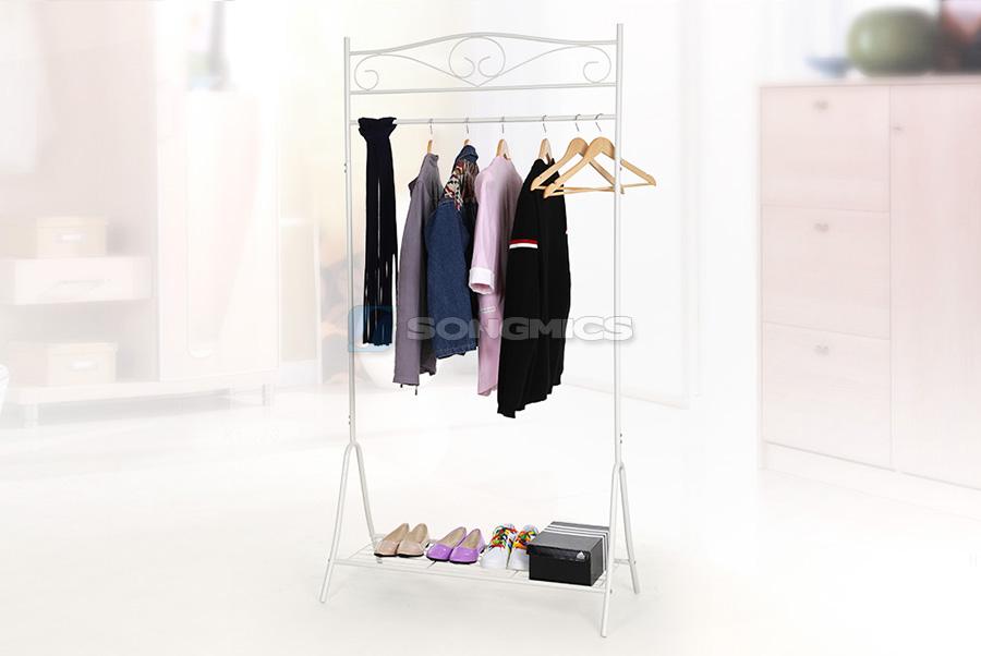 songmics kleiderst nder metall garderobenst nder. Black Bedroom Furniture Sets. Home Design Ideas