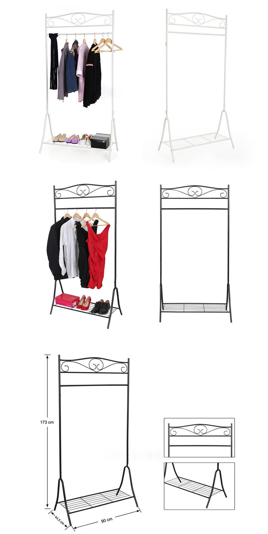 songmics nuovo stand appendiabiti attaccapanni stender di ferro di stile classic ebay. Black Bedroom Furniture Sets. Home Design Ideas