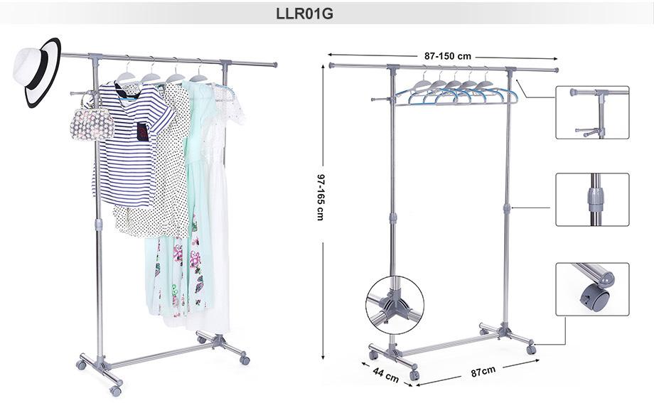 garderobenst nder edelstahl kleiderst nder mit rollen belastbarkeit 25 30 kg ebay. Black Bedroom Furniture Sets. Home Design Ideas