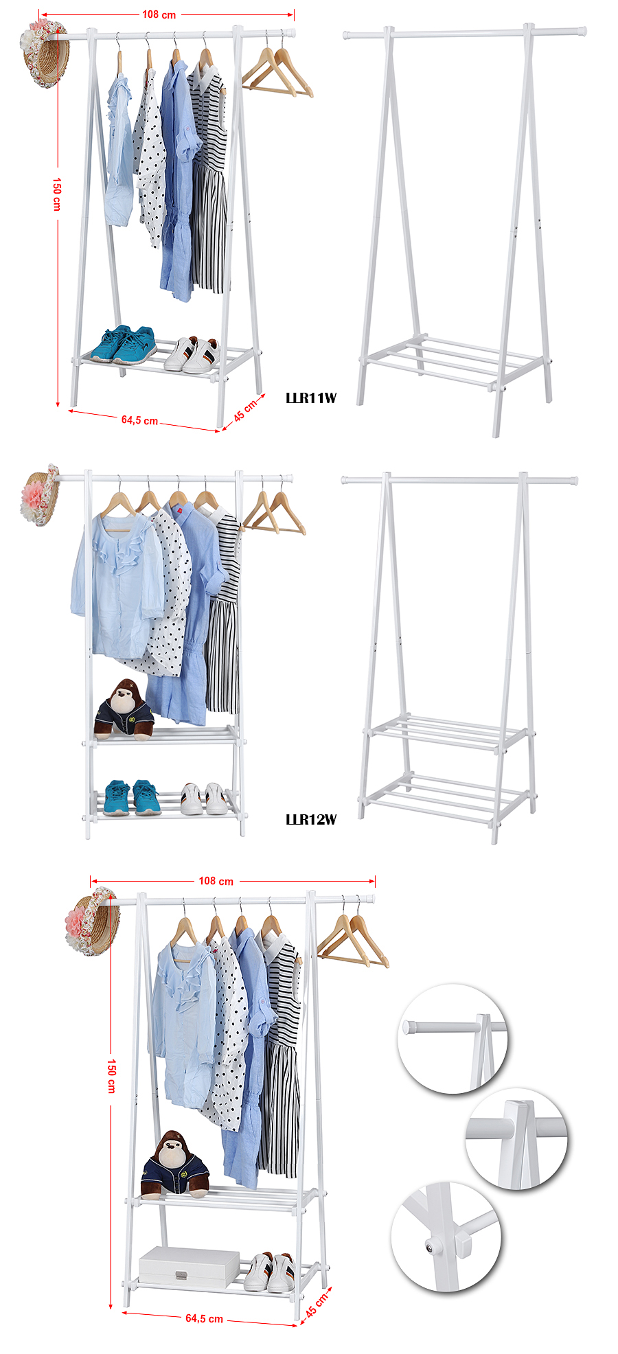 songmics metall kleiderst nder kleiderstange garderobenst nder st nder ebay. Black Bedroom Furniture Sets. Home Design Ideas