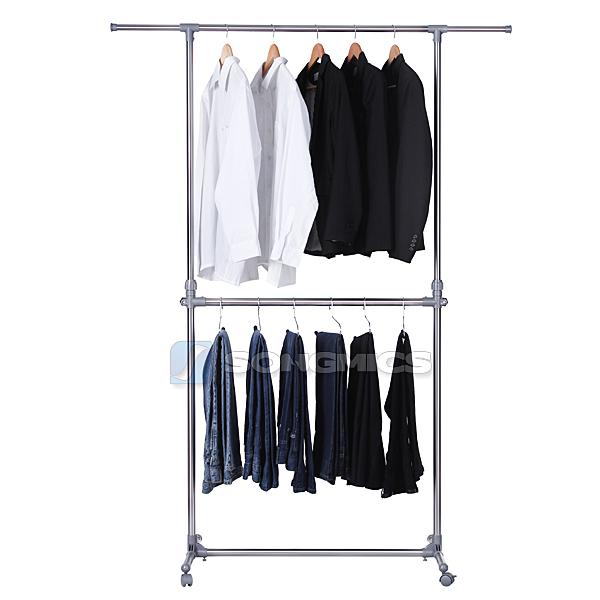 songmics r glables portant en porte v tement porte manteau penderie de rangement ebay. Black Bedroom Furniture Sets. Home Design Ideas