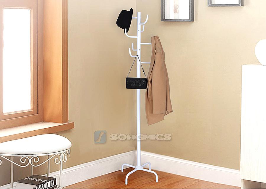 songmics garderobenst nder stabil metall kleiderst nder garderobe wei rcr18w ebay. Black Bedroom Furniture Sets. Home Design Ideas