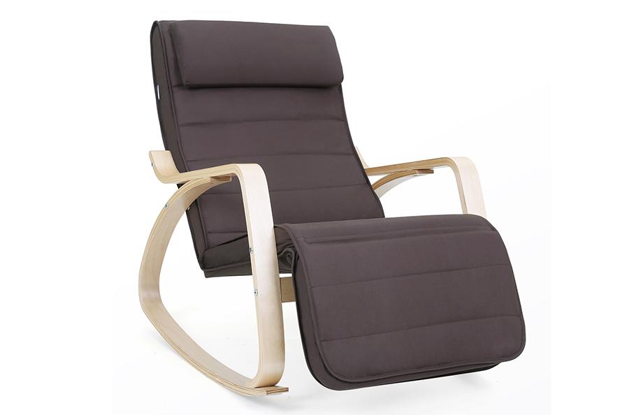 schaukelstuhl schwingsessel relaxstuhl schwingstuhl ruhesessel braun lyy10z ebay. Black Bedroom Furniture Sets. Home Design Ideas
