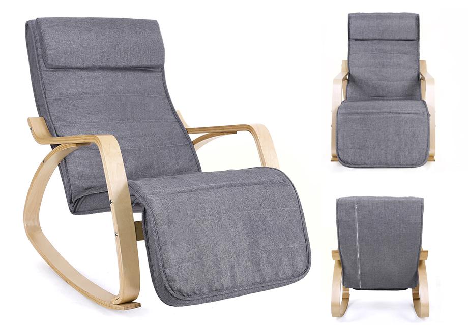 schaukelstuhl schwingsessel relaxstuhl schwingstuhl ruhesessel stuhl grau lyy11g ebay. Black Bedroom Furniture Sets. Home Design Ideas