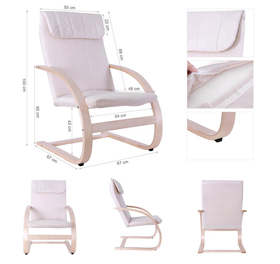 Schaukelstuhl schwingsessel relaxstuhl schwingstuhl for Stuhl italienisch