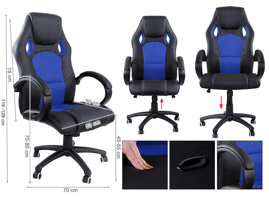 racing sport gaming swivel office chair executive racer