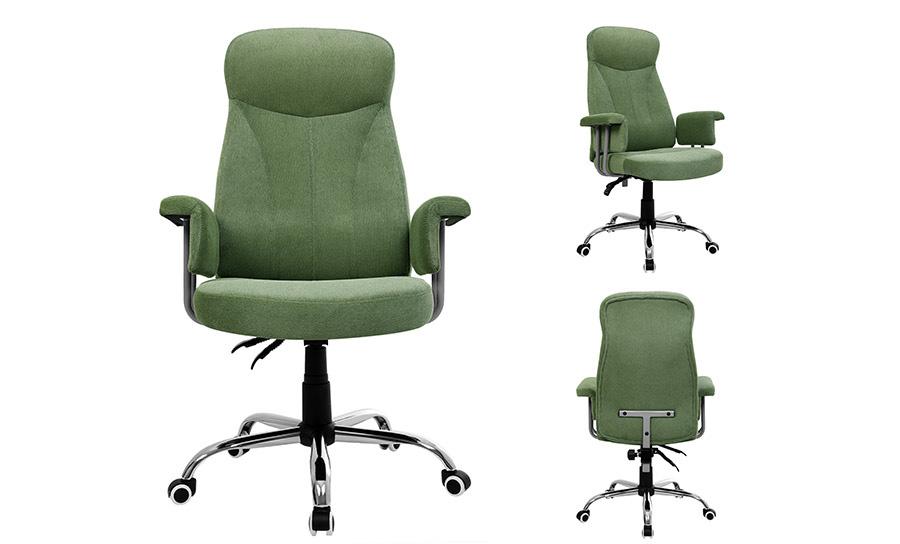 b rostuhl relaxstuhl mit verstellbarer r ckenlehne samtbezug gr n obg41l ebay. Black Bedroom Furniture Sets. Home Design Ideas