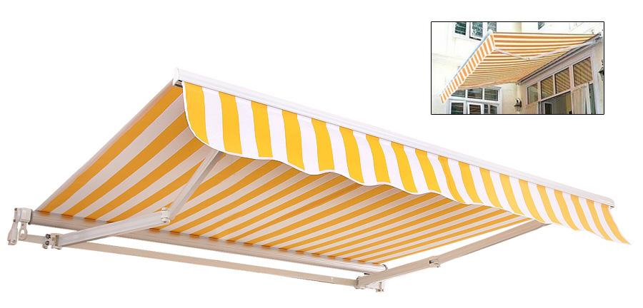 Alu Gelenkarmmarkise Sonnensegel Sonnenschutz 3 5 2 5m