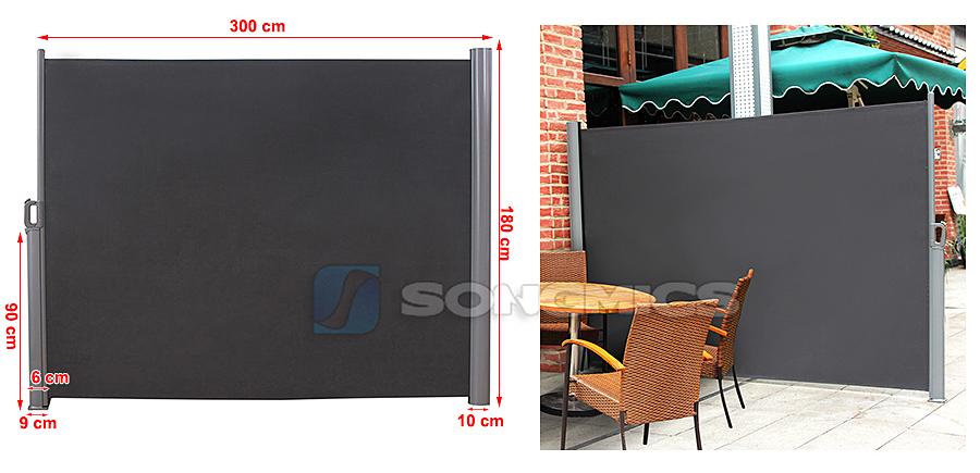 seitenmarkise sichtschutz sonnenschutz windschutz markise. Black Bedroom Furniture Sets. Home Design Ideas