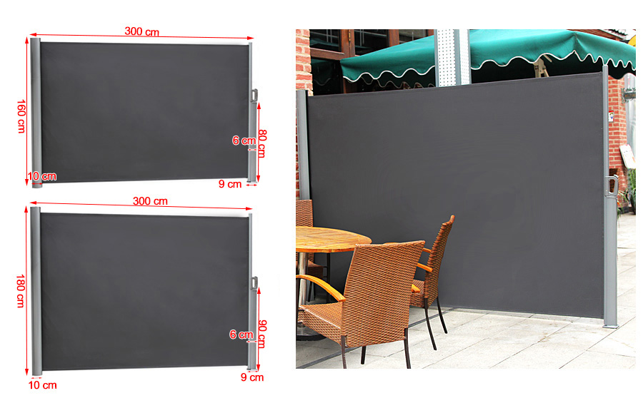 Patio awnings Blind side awning garden Roll-up awning for ...