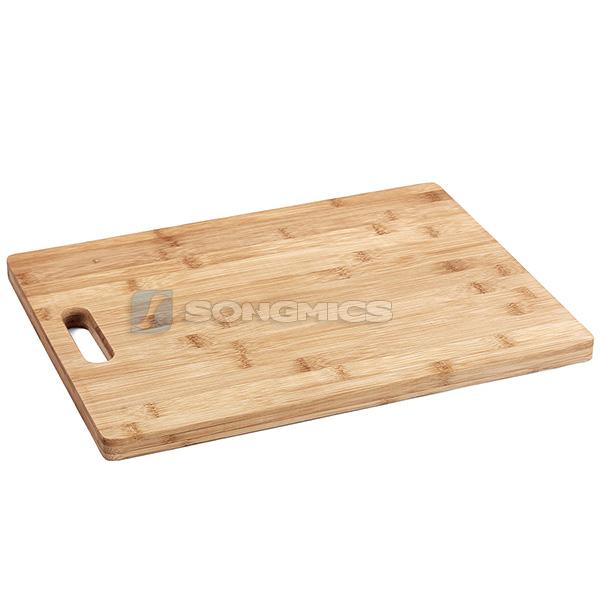 schneidebrett nudelbrett hackblock tranchierbrett k chenbrett bambus kab102 ebay. Black Bedroom Furniture Sets. Home Design Ideas