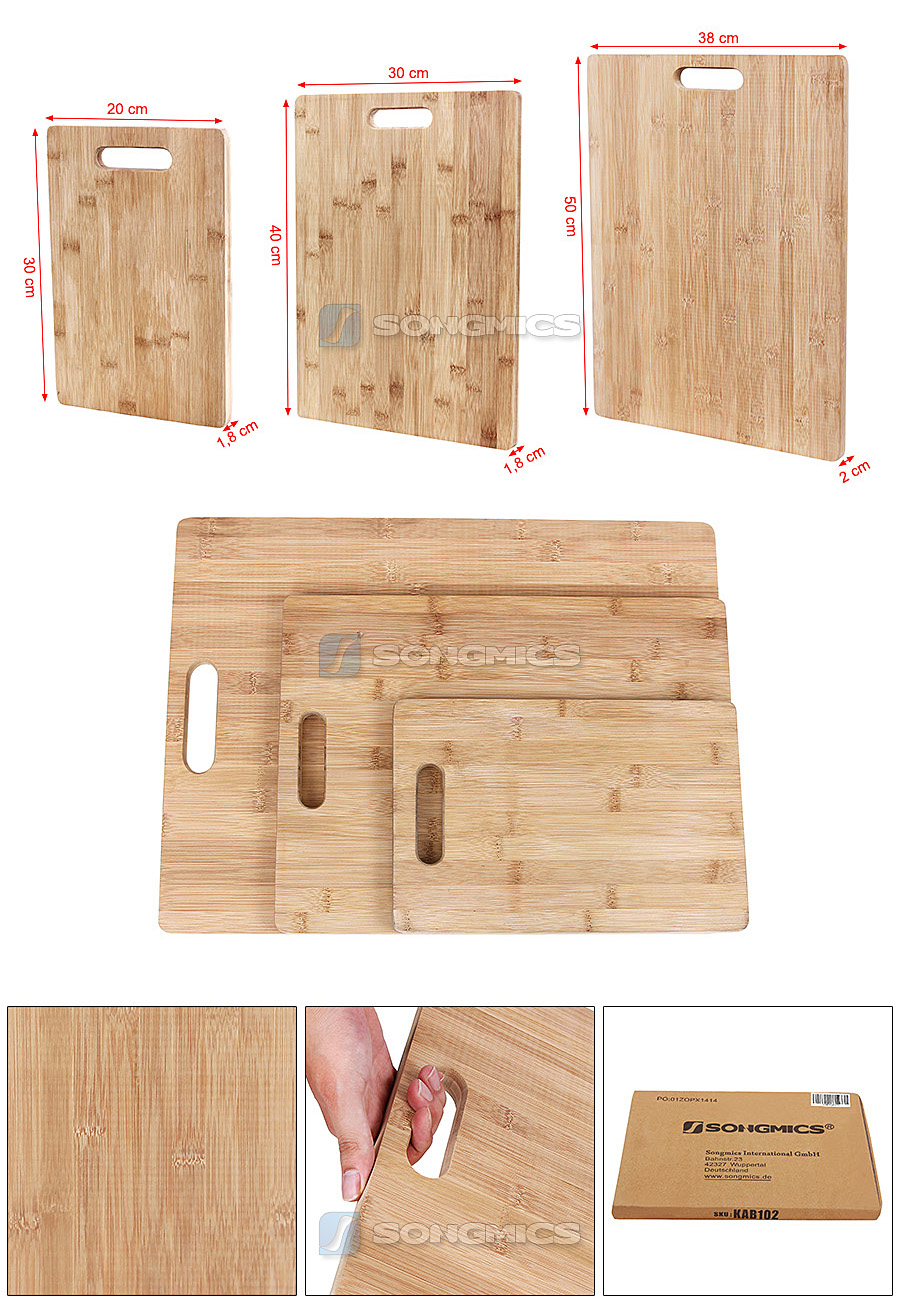 songmics bambus schneidebrett tranchierbrett k chenbrett fr hst cksbrettchen ebay. Black Bedroom Furniture Sets. Home Design Ideas