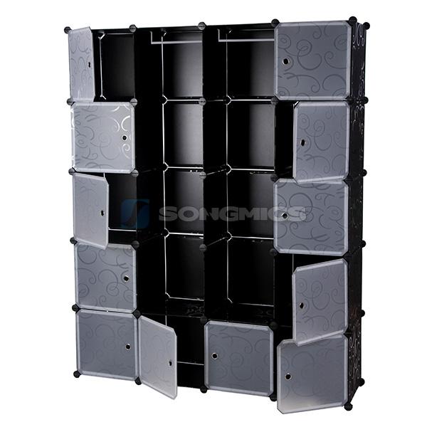 garderobe regal schrank standregal kleiderschrank badregal 180x145x37cm lpc30h ebay. Black Bedroom Furniture Sets. Home Design Ideas