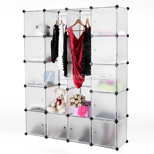 diy steckregal kleiderschrank standregal regal garderobe t r schrank lpc30w ebay. Black Bedroom Furniture Sets. Home Design Ideas