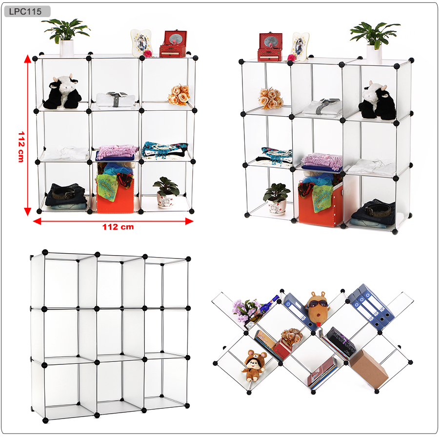 diy kleiderschrank kunststoff garderobe regalsystem schuh schrank badregal ebay. Black Bedroom Furniture Sets. Home Design Ideas