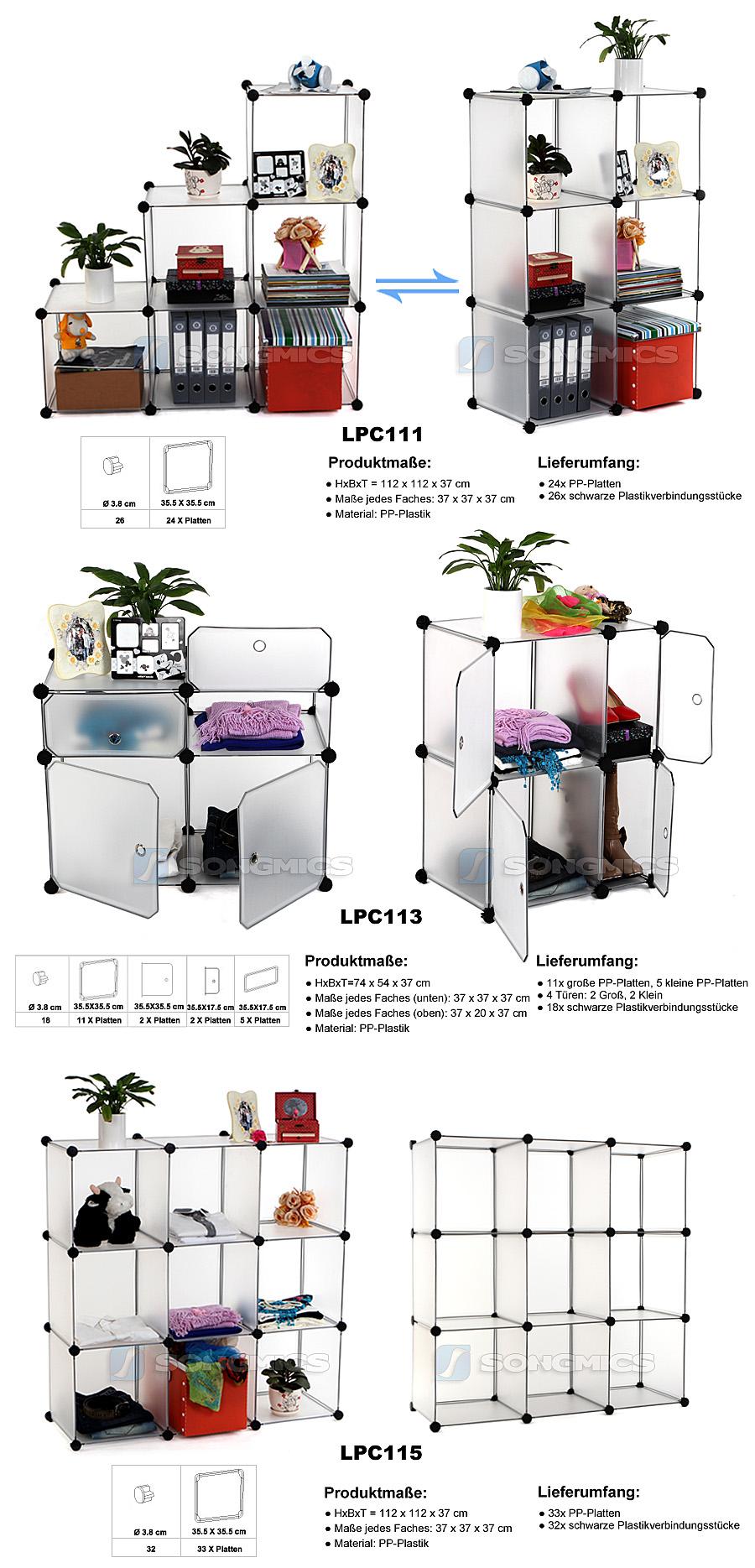 songmics interlocking shoe shelf bookcase wardrobe shelves bathroom shelf lpc ebay. Black Bedroom Furniture Sets. Home Design Ideas