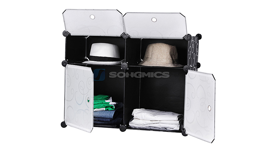 diy commode cubes tag re de rangement modulables plastiques cadre lpc114 ebay. Black Bedroom Furniture Sets. Home Design Ideas