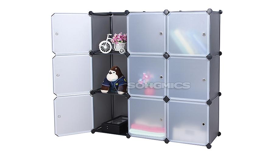 Diy penderie armoire cubes tag res de rangement modulables plastiques lpc16g - Etageres cubes modulables ...