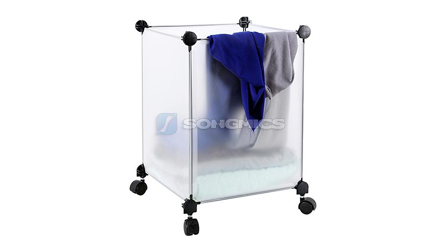 diy w schesammler w schebox w schekorb aufbewahrung box mit 4 rollen 55l lpc17w ebay. Black Bedroom Furniture Sets. Home Design Ideas