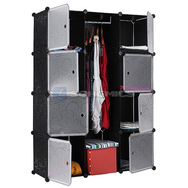 faltschrank kleiderschrank garderobe regal w scheschrank aufbewahrung lpc30b ebay. Black Bedroom Furniture Sets. Home Design Ideas