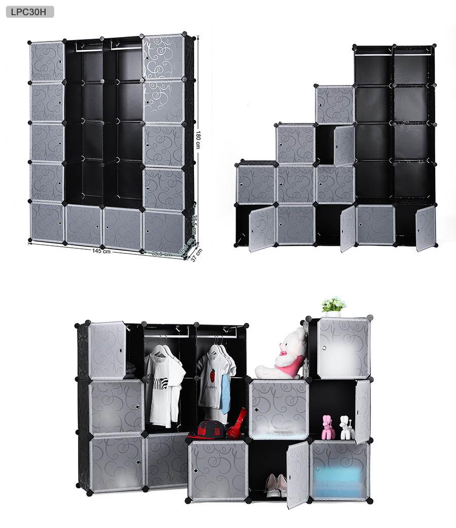 gro kunststoff steckregal kleiderschrank garderobe standregal steckregalsystem ebay. Black Bedroom Furniture Sets. Home Design Ideas
