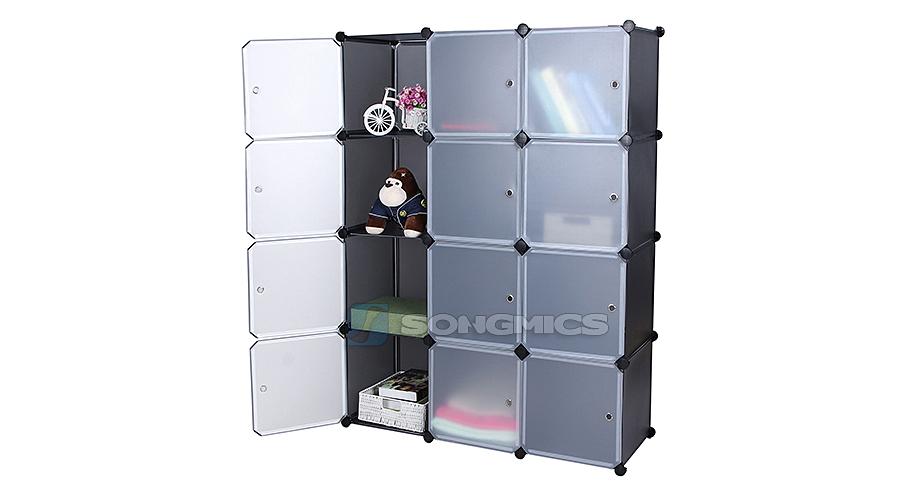 regal schrank garderobeschrank w scheschrank kleiderschrank aufbewahrung lpc34g ebay. Black Bedroom Furniture Sets. Home Design Ideas