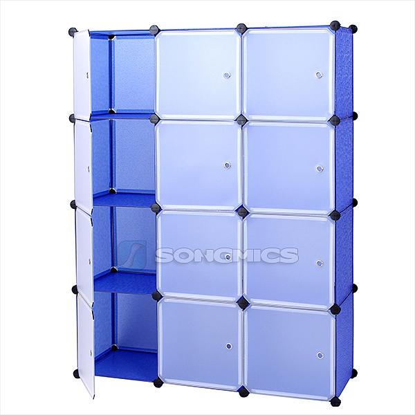 regal schrank garderobeschrank w scheschrank kleiderschrank kommode blau lpc34q. Black Bedroom Furniture Sets. Home Design Ideas