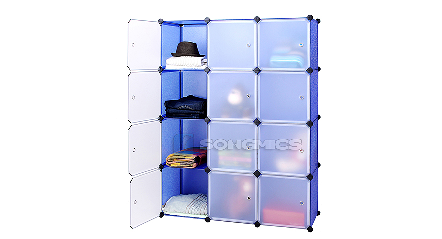 regal schrank garderobeschrank w scheschrank kleiderschrank kommode blau lpc34q. Black Bedroom Furniture Sets. Home Design Ideas