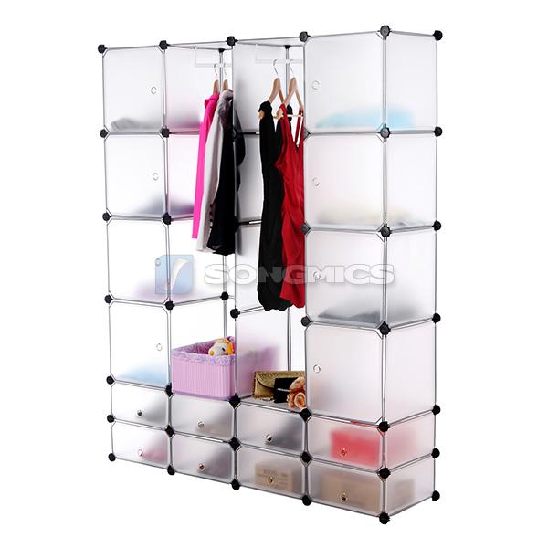 kleiderschrank steckregal garderobe schuh regal schrank 180 x 145 x 37cm lpc42w. Black Bedroom Furniture Sets. Home Design Ideas