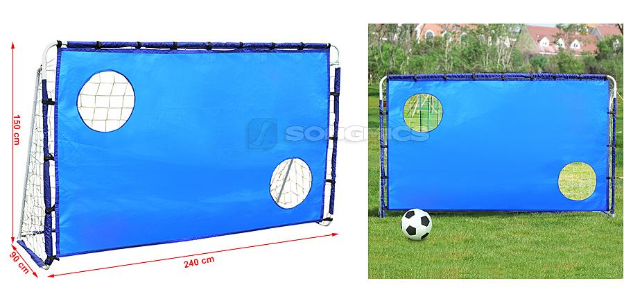Songmics 240cm porta da calcio in metallo con rete - Rete porta da calcio ...