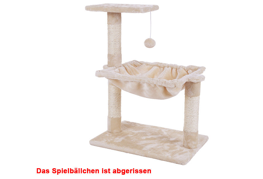 gebrauchte kletterbaum kratzbaum mit liegemulde 70 cm l170068b pct82m ebay. Black Bedroom Furniture Sets. Home Design Ideas